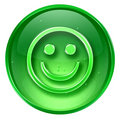 Smiley Face green, isolated on white background.