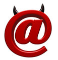 evil email symbol