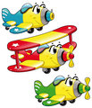 Cartoon airplanes.