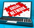 Social Network On Laptop Showing Online Communications