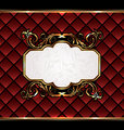 Vintage aristocratic emblem, grand background