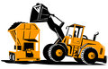 Front End Loader Digger Excavator Retro