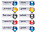Upload Download Files - Internet button Gel Icon