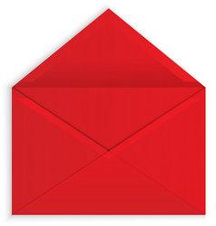 red envelope open vector stock vector