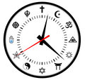 religions clock