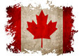 Canada flag on old vintage paper in isolated white background