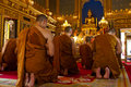 Buddhist monks praying (Thailand)