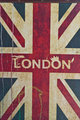 UK flag with london in th middle