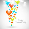 Beautiful valentines day with colorful hearts card vector whit b