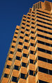 Tan Skyscraper Blue Sky