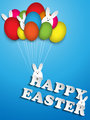 Happy Easter Rabbit Balloons Eggs