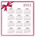 Calendar 2013 and bow