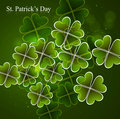 Happy St. Patrick's Day green colorful vector background illustr