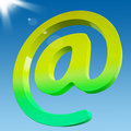 At Sign Shows Online Mailing Communication Icon