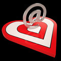 Heart E-mail Shows Valentines Electronic Letter Mail