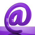 At Sign Means Online Mailing Communication Icon