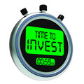 Time To Invest Message Showing Growing Wealth And Savings