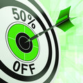 50 Percent Off Shows Discount Promotion Advertisement