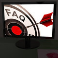 FAQ Aim On Monitor Showing Customer Service