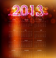 2013 calendar bright new year colorful vector design