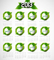 2013 calendar eco natural green lives circle stylish vector