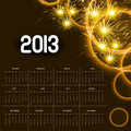 2013 calendar golden bright celebration colorful vector