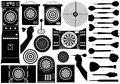 Set of different dartboards
