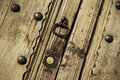Old lock on a vintage door