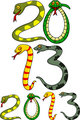 Year of snake cartoon