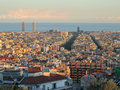 Barcelona in late sunlight