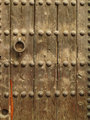 wooden surface of a door