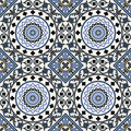 Arabesque seamless pattern in blue 