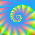Pink Blue Green Spiral