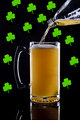 Beer and shamrocks.