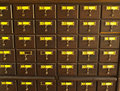 Old wooden card catalogue in Thai library