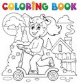 Coloring book kids play theme 2