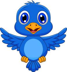 Cartoon blue bird - photo#22