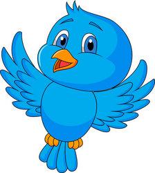 Cartoon blue bird - photo#16