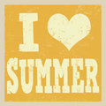 I love summer poster
