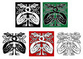 Wild birds in celtic ornament style