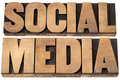 social media in wood type