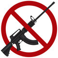 Assault Rifle AR 15 Gun Ban Illustration