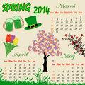 Spring calendar for 2014
