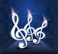 Dancing treble clef