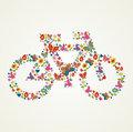 Go green spring icon bike