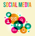social network concept colorful background