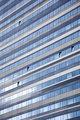 facade of modern building reflecting sky