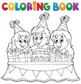 Coloring book kids party theme 1