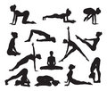 Silhouette Yoga poses