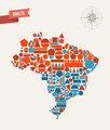 Brazil geometric figures map